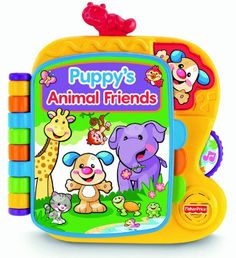 Fisher-Price Laugh & Learn Puppy's Animal Friends Book Fisher-Price http://www.amazon.co.uk/dp/B004RAKJ28/ref=cm_sw_r_pi_dp_-R7qub0QF8S4C