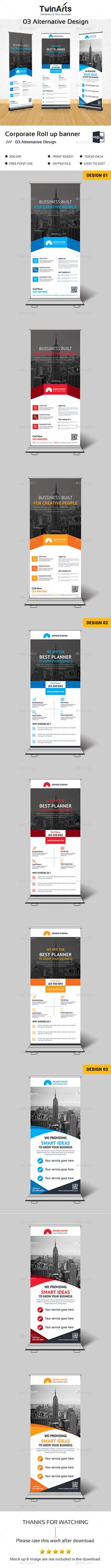 Corporate Roll-Up Banner Template PSD. Download here: https://graphicriver.net/item/corporate-roll-up-banner/17623450?ref=ksioks
