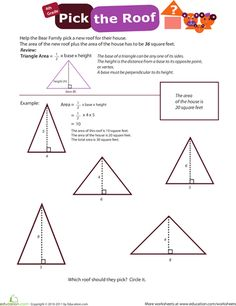 Awesome Brush up on the basics of geometry with these perimeter area and angle worksheets Triangle in Area Of A Triangle Worksheet Angles Worksheet, Triangle Worksheet, Trigonometry Worksheets, Teacher Worksheets, Classifying Triangles, Finding Area, Basic Geometry, Area And Perimeter, Teaching Math