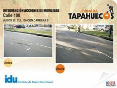 Intervención Acciones de Movilidad Calle 100 con Carrera 21.