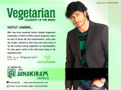 Vidyut Jammwall, who has been awarded India's Hottest Vegetarian Celebrities of 2013 by PETA( People for Ethical Treatment of Animals ), turned vegetarian when he was 14 years old. The model-turned-actor, who ate mutton, chicken in every day and every meal of his life, believes being vegetarian is much healthier. He also gives credit of his well toned body to his vegetarian diet.   Yeah, He is a Vegeterian  Source: The Times of India  #letsgogreen #vegeterian #celebrity