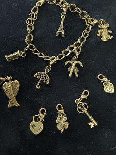 Brass Charm Bracelet by LFDSIStore on Etsy