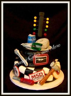 omg... so this was made as a groom's cake, but this would be a Bride's cake at this girls wedding!! LOL
