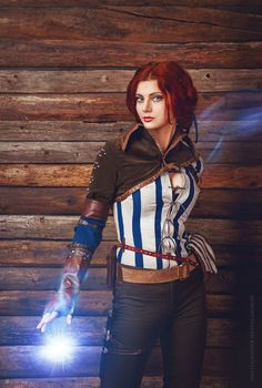Character: Triss Merigold of Maribor / From: Andrzej Sapkowski's 'The Witcher' Short Stories and Novels & CD Projekt RED's 'The Witcher' Video Game Series / Cosplayer: Ksenia Shelkovskaya (aka Mellu's cosplay - Xenia Shelkovskaya, aka xeniash) / Photo: Giorgy Siradze (2014)