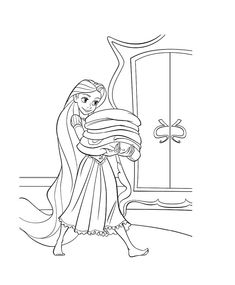 Rapunzel Lives In A Hidden Tower Coloring Pages Tangled Coloring Pages, Disney Princess Coloring Pages, Coloring Book Pages, Coloring Sheets, Adult Coloring, Disney Princess Toddler, Disney Princess Colors, Disney Cartoon Characters, Tangled Rapunzel
