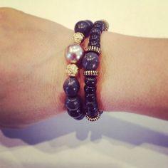 Beaded bracelet set by AroundMyWrist on Etsy, $19.95