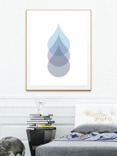 Modern Art Water Drops Dew Drops Printable Modern by MuseAlpha