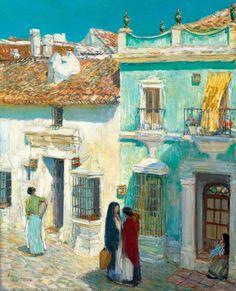 Childe-Hassam,-Plaza-de-la-Merced,-Ronda,-1910