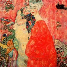 Two girlfriends Gustav Klimt