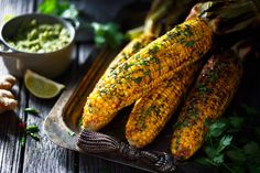 Maïs grillés au beurre thaï - grilled corn with Thai butter  Begirlfoodphoto
