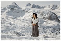 This couple celebrated their engagement in Hallstatt with a pre-wedding snowshoe hike Winter Engagement, Engagement Photos, Austrian Village, Cloudy Weather, Elopement Ideas, Before Sunrise, Stay The Night, World Heritage Sites, Photo Sessions