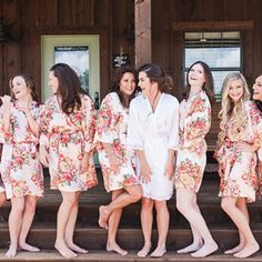 Bridesmaid Robes/ Wedding Party Gifts/ Bridal Party Robes// Floral Bridesmaids Robes/ Bridesmaids Gifts/ Set of 8 Robes Bridal Party Robes, Gifts For Wedding Party, Bridal Gifts, Party Gifts, Bridesmaid Robes, Floral Bridesmaids, Monogram Initials, Wedding Photos, Wedding Planning