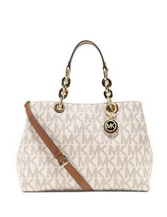 Michael Michael Kors Cynthia Signature Print Medium Satchel