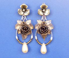 EARRING VINTAGE VICTORIAN orecchini stile antico di SissiHand