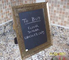 Cheap DIY Project: Framed Chalkboard Family Message Board