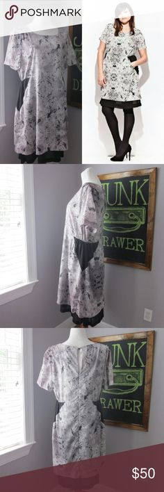 """Carmakoma Sakar Dress Plus Size M/18 Excellent gently worn condition. No flaws! Perfect fall and winter dress. Size Md in this brand is size 18 according to website. Bust 22"""". Length 41"""" poly  Bundle for best deals! Hundreds of items available for discounted bundles! You can get lots of items for a low price and one shipping fee!  Follow on IG: @the.junk.drawer Carmakoma Dresses"""