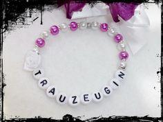 Armband ,Trauzeugin,pink,Rose weiß von Angels & More auf DaWanda.com