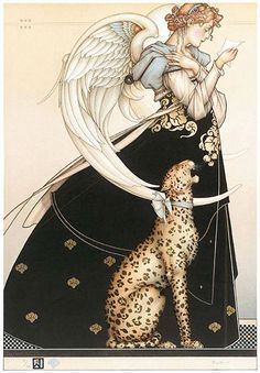 The Letter: Michael Parkes.  This is the next art piece I want to get for the new house!
