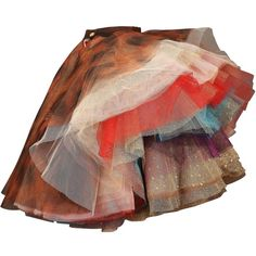 "Vivienne Westwood 'EXPLOSION"" tulle skirt, c. 1993 (€5.645) ❤ liked on Polyvore featuring skirts, bottoms, dolls, patterned skirts, layered tulle skirt, brown layered skirt, vivienne westwood skirt and vivienne westwood"