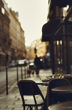 Paris on the street, quiet early morning or late afternoon.Inspiration for your Paris vacation from Paris Deluxe Rentals Paris 3, Paris France, Paris Cafe, Paris Street, The Places Youll Go, Places To Go, Paris Ville, Snowdonia, City Life