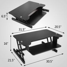 Ergonomic Adjustable Height Stand Up Desk Lift Rising Workstation Rise Up NEWEST