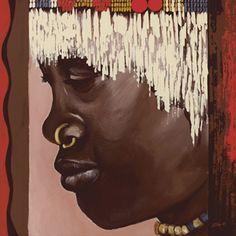 Ellen F.: Nuba #wandbild #homedecor #einrichtung #walldecor #wallpicture #poster #africa #africanprint #africanart Painting Patterns, Pattern Design, Ethnic, Africa, The Originals, Poster, Art, Style, Original Paintings