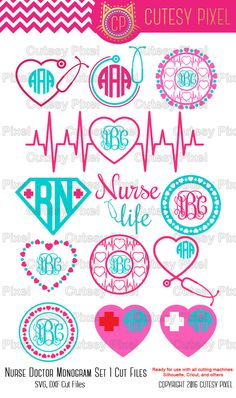 13 Nurse Svg cutting file, nurse Desings SVG, DXF, Cricut Design Space, Silhouette Studio,Digital Cut Files