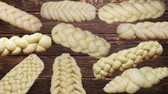 10 ways to weave bread or rolls. Braided Bread, Bread Bun, Bread Plait, Croissant Recipe, Bread Shaping, Baking Basics, Best Bread Recipe, Savoury Baking, Jewish Recipes
