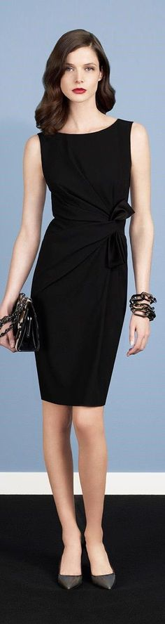 Designer fashion | Paule Ka black fold dress
