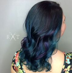 Oil slick hair color by Rachel at Avante on Main Street Salon, Exton PA