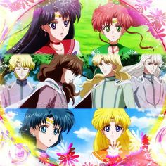 Second edit of the day the Inner Senshi and their four lovers, enjoy moonies…