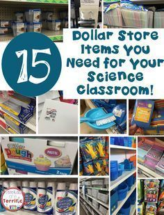 Ideas for supplies for your STEM or Science classroom that can be purchased at the dollar store! This post is all about the things you need the most and a couple of things you should buy somewhere else!