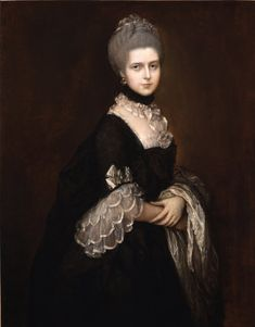 Portrait of Maria Walpole Countess of Waldegrave, later Duchess of Gloucester, by Thomas Gainsborough (English, 1727-1788).