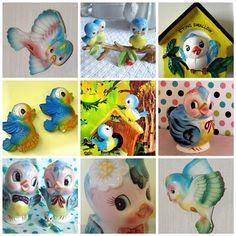 Vintage bluebirds