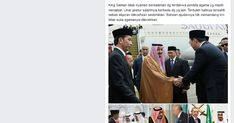 Logika Sesat Pendukungnya, Jabat Tangan Terdakwa Penista Agama, Raja Salman Terlihat Tidak Nyaman ?