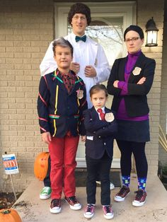 Odd Squad Halloween family from Twitter. Props for the Odd Todd costume! :D