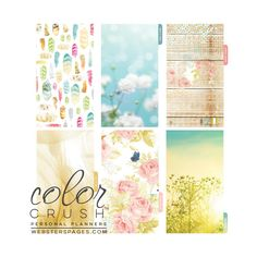 Color Crush Personal Planner Divider Set Kit - Be Happy, Be Bright…
