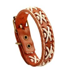 Vintage Woven Rope X Stitch Leather Bracelet