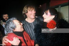"""Marguerite Duras, singer Barbara and Gerard Depardieu at """"Lily. Patrick Modiano, Marguerite Duras, Cinema, Lily, Singer, Concert, Photos, French, Fictional Characters"""