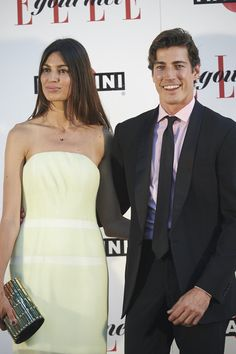 Oriol Elcacho Photos - Oriol Elcacho and Davinia Pelegri attend the Elle Gourmet Awards 2015 at the Italian Embassy on July 2015 in Madrid, Spain. - Elle Gourmet Awards 2015 in Madrid Strapless Dress Formal, Formal Dresses, Wedding Dresses, Ideal Man, Red Carpet, Madrid, Awards, Pictures, Fashion