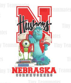 Monsters University Inspired Nebraska Cornhuskers - New Custom Design - Digital File - Any Team Available by special request on Etsy, $7.00