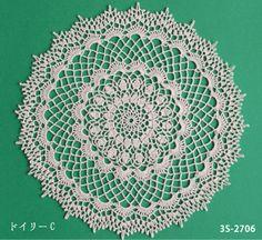 Lacy doily - free crochet diagram pattern