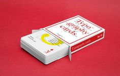Typography cards on Behance