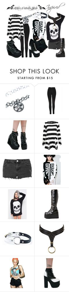 """""""Ash Costello Inspired"""" by katiehorror ❤ liked on Polyvore featuring Ana Accessories, Topshop, Demonia, Killstar, Iron Fist, NecroLeather and Signature 8"""