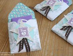 Envelope Punch Verpackung / Box / Schoko-Goodie (z.B. für kl. Milka-Tafel)