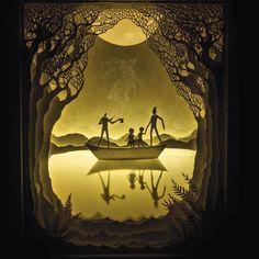 Hari & Deeptisão artistas indianosque estão morando em Denver no Colorado. O casal adora brincar com sombras e iluminações em suas obras.Eles começaram a experimentar esse estilo em 2010 ao recortar papéise colocá-losem uma caixa de madeira para criar um diorama. Com anos de prática, a sua arte se tornou, ao mesmo tempo, mais complexa […]