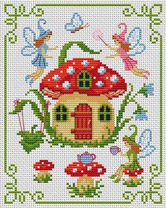 Cross Stitchers Club.  OOOoooo a way of getting all my little houses I love so much... stitch them. What a novel idea ~!~