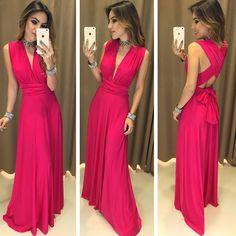 V Neck Sleeveless prom dress , open back prom dress ,A Line Floor Length Beautiful Maxi Dresses, Simple Dresses, Mom Dress, Dress Up, Infinity Dress Styles, Multi Way Dress, Open Back Prom Dresses, Special Occasion Dresses, Party Dress