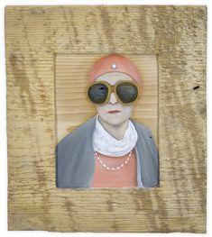 Unknown woman in Vienna, 23 x 21 cm, Oil on wood Kurt Cobain, Vienna, Round Sunglasses, Contemporary Art, Oil, Woman, Style, Fashion, Kunst