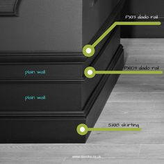 Coving Supplier in the UK Skirting Boards in knock resistant polymers Black Trim Interior, Wall Design, House Design, Wall Molding, Moulding, Wall Trim, Trim Work, Moldings And Trim, Wainscoting